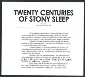 Various - Twenty Centuries Of Stony Sleep [CD]